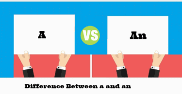 Difference Between A and An