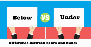 Difference Between Below and Under