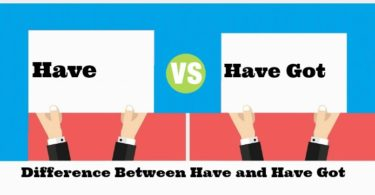 Difference Between Have and Have got