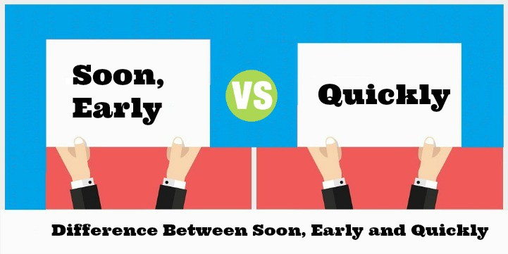 Difference Between Soon, Early and Quickly