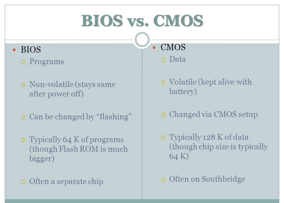 how has cmos memory changed over the years essay Purpose and contents of cmos memory a great deal of important configuration information is stored in a special type of non-volatile memory, called complementary metal-oxide semiconductor, or cmos (pronounced 'sea-moss'), which requires little power to hold on to its contents.