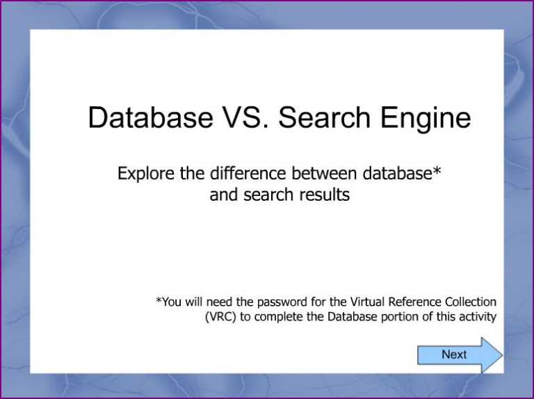 why search engines and databases produce different types of results Since databases provide powerful search tools for narrowing results, users are able to more quickly find the information they need.