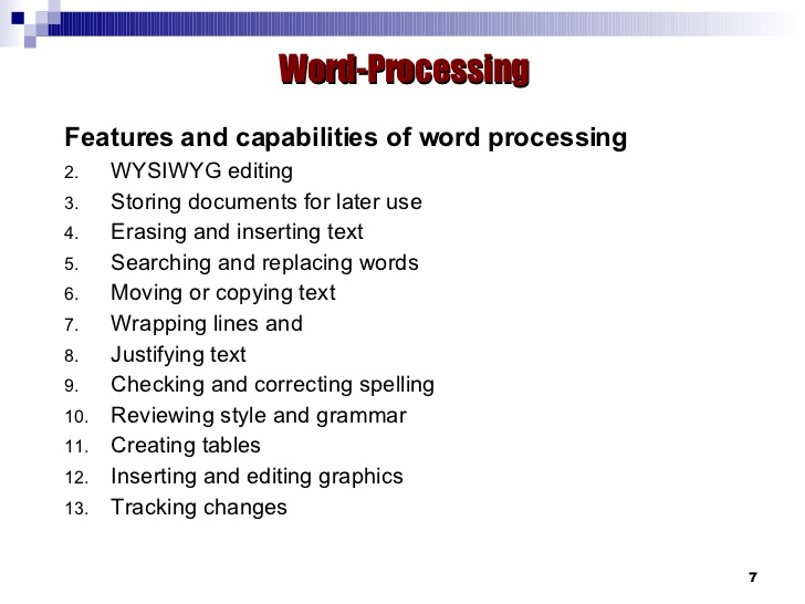 Difference Between Word Processing and Spreadsheet