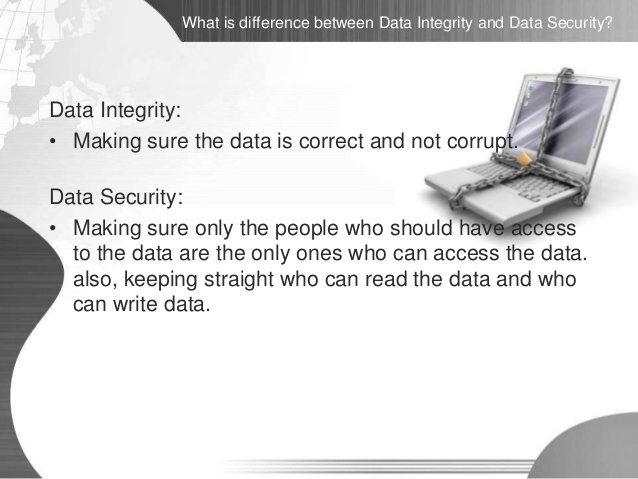 Difference Between Data Security and Data Integrity