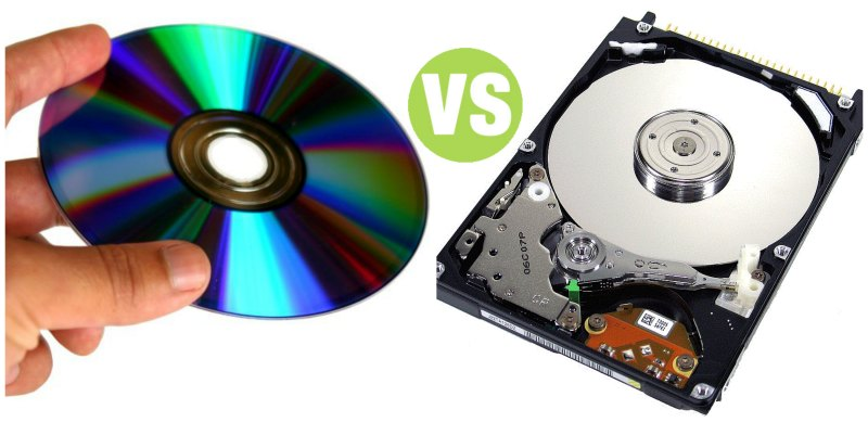 Difference Between Optical Disk and Hard Disk