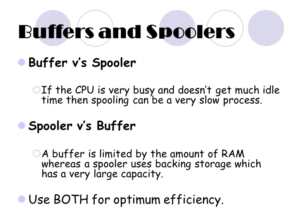 Difference Between Spooling and Buffering