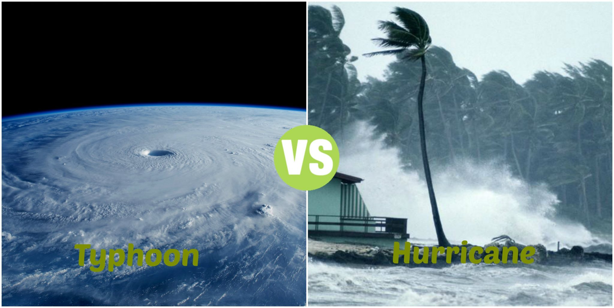 Difference Between Typhoon and Hurricane