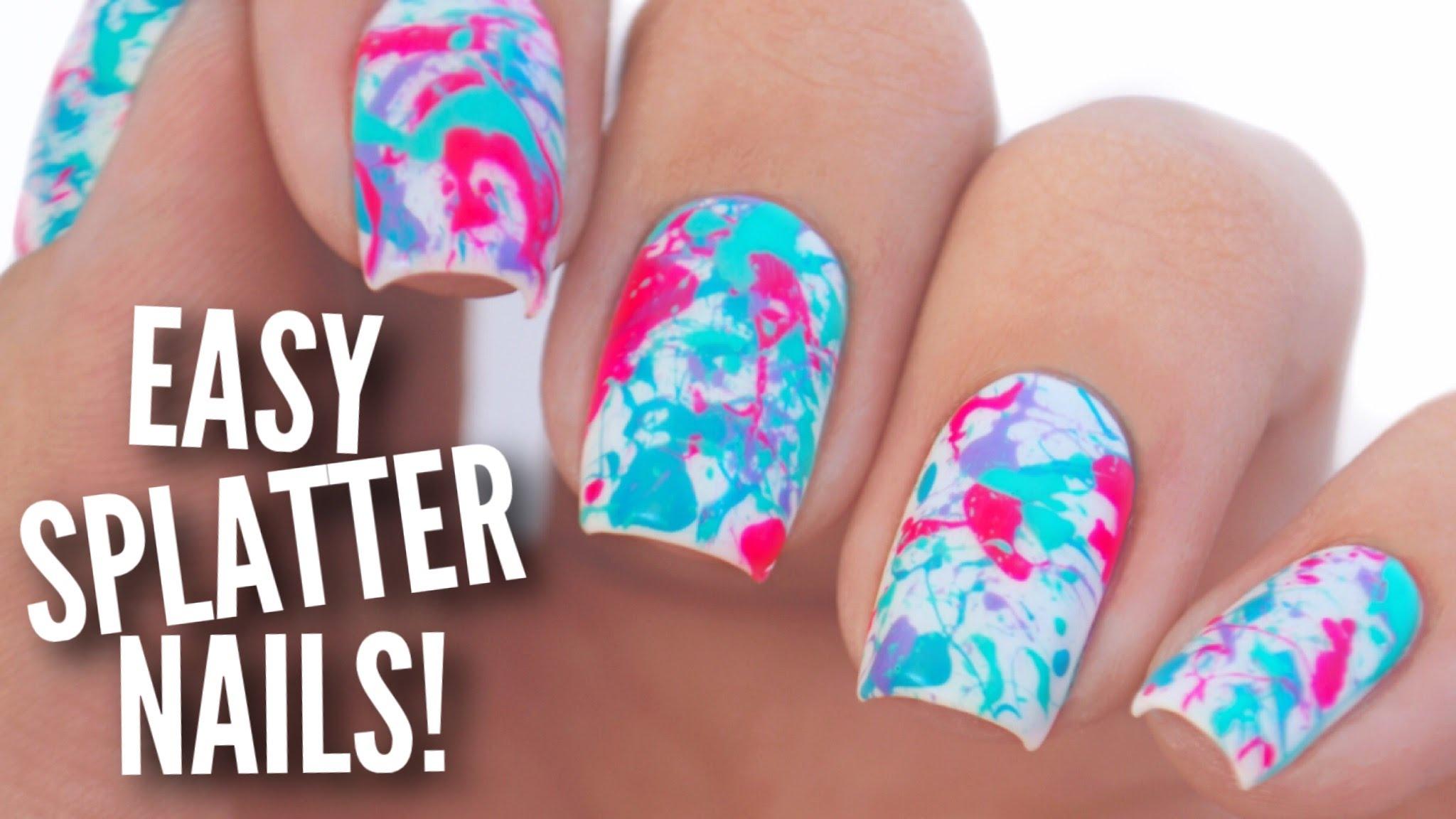 Splatter Nail Paint