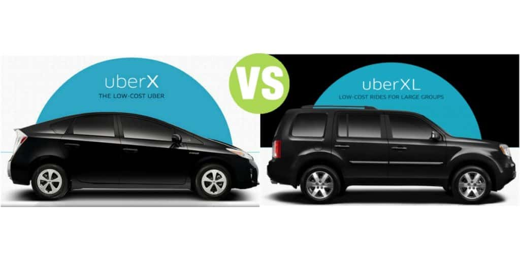 Difference Between UberX and UberXL