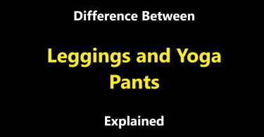Difference Between Leggings and Yoga Pants